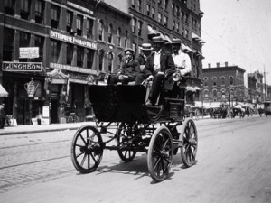 The first electric vehicle (1884)